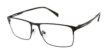 C01 Matte Black Tlg NU043 Titanium Eyeglasses.