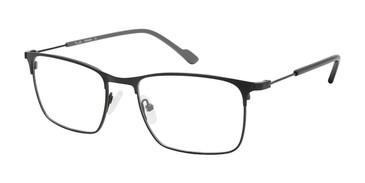 C01 Matte Black Tlg NU041 Titanium Eyeglasses.