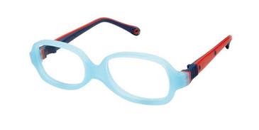Aqua Red W-Blue Strap Life Italia NI-132 Eyeglasses.