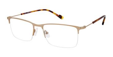 C01 Matte Gold Tlg NU040 Titanium Eyeglasses.