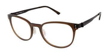 C02 Translucent Brown Tlg NU031 Titanium Eyeglasses.