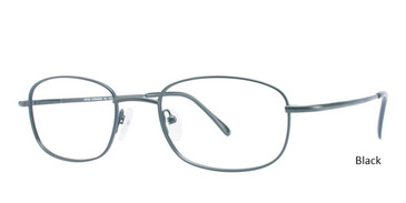 Black Vivid Eyeglasses Eurosteel 103.