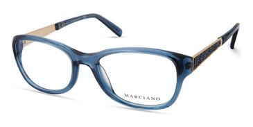 Shiny Turquoise Marciano GM0355 Eyeglasses.