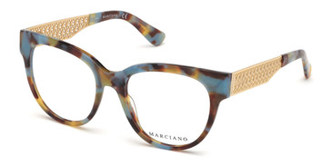 Turquoise/Other Marciano GM0357 Eyeglasses.