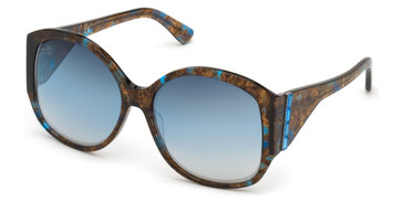 Blue/Other Marciano GM0809-S Sunglasses.