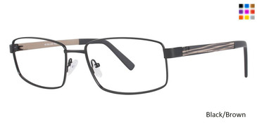 Black/Brown Vivid Big And Tall 12 Eyeglasses