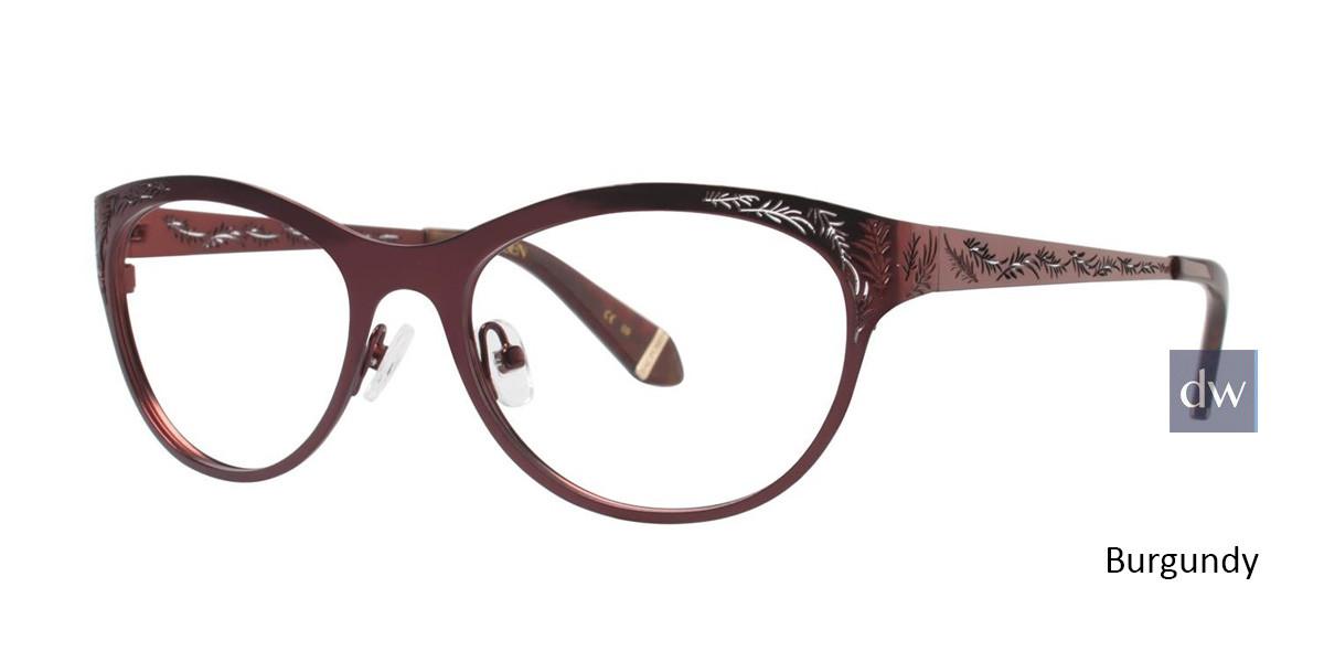 Burgundy Zac Posen Gayle Eyeglasses