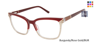 Burgundy/Rose Gold/BUR L.A.M.B LA084 Eyeglasses.