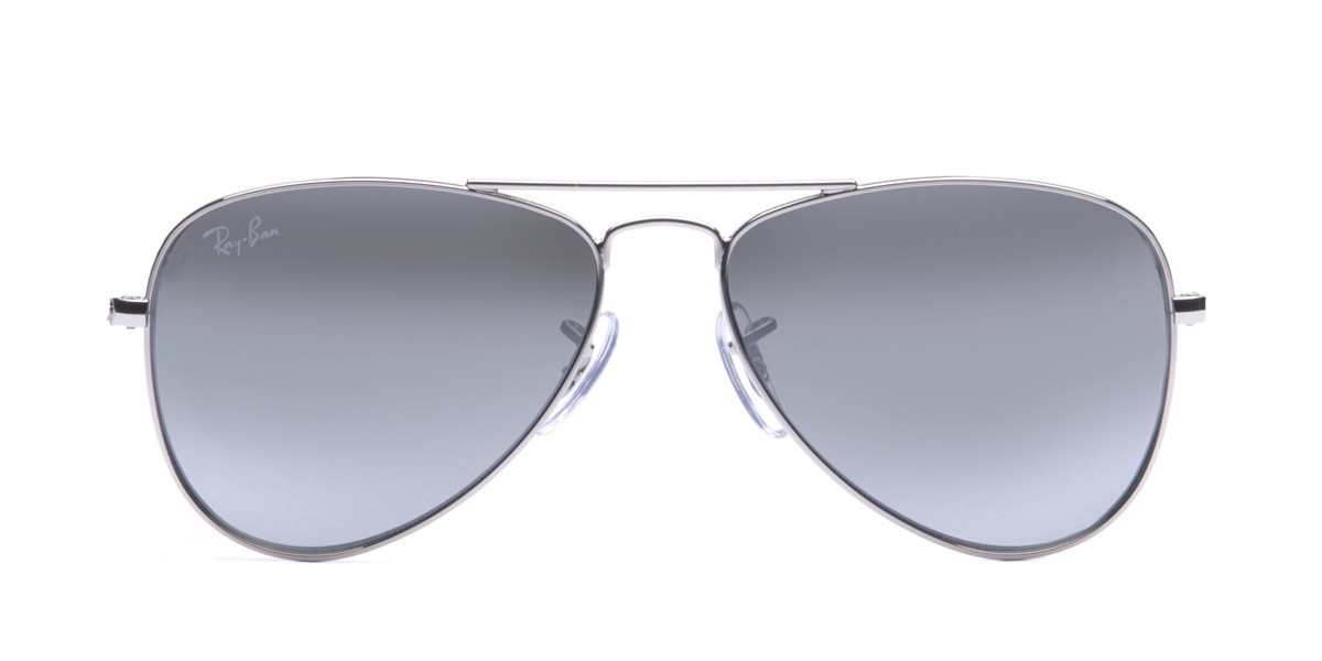 Silver/Light Blue Gradient RayBan RJ9506S Aviator Junior Sunglasses