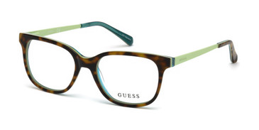 Dark Havana Guess GU9175 Eyeglasses - Teenager