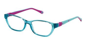 Aqua Fuchsia W/Violet Strap Life Italia NI-142 Eyeglasses - Teenager