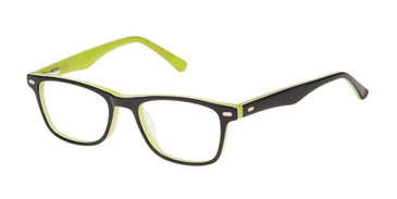 Black Green Superflex Kids SFK-237 Eyeglasses.