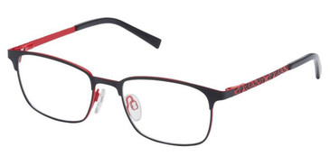 Black Red Superflex Kids SFK-231 Eyeglasses.