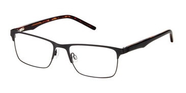Black Superflex SF-579 Eyeglasses.