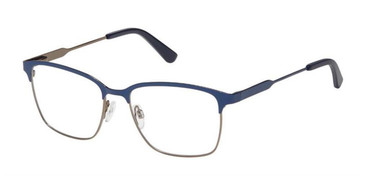 Blue Gunmetal Superflex SF-575 Eyeglasses.