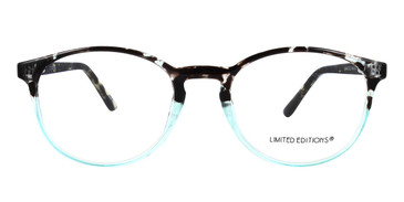Black/Blue Limited Edition LTD 2218 Eyeglasses - Teenager