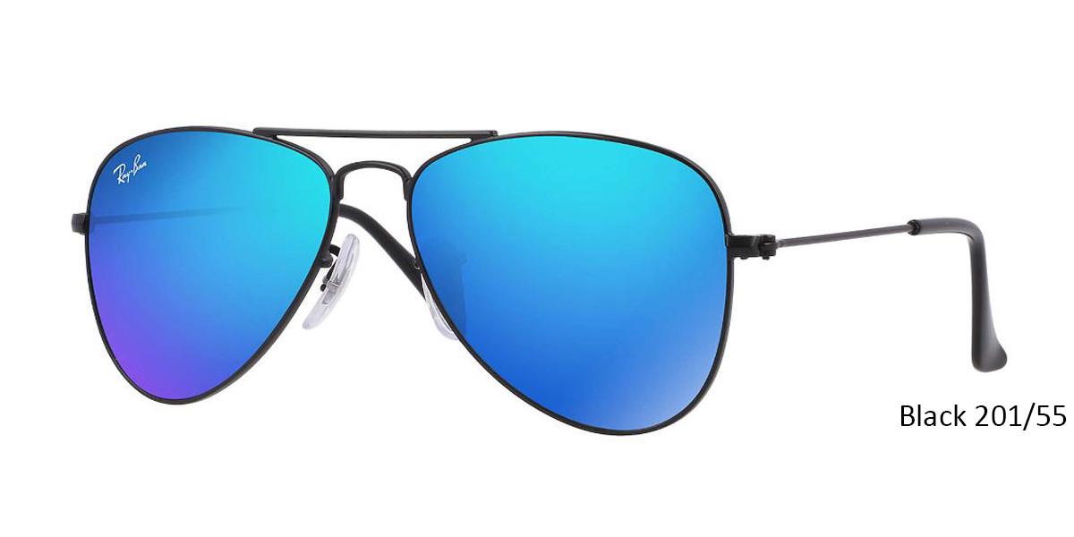 Black 201/55 RayBan RJ9506S Aviator Junior - Gold Sunglasses