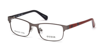 Matte Gunmetal Guess GU9180 Eyeglasses - Teenager