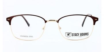 Brown STACY ADAMS 1102 Eyeglasses