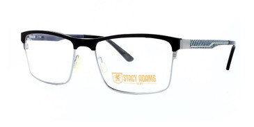 Black STACY ADAMS 1115 Eyeglasses