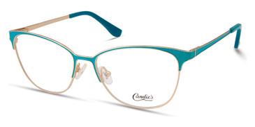 Shiny Turquoise Candie's Eyewear CA0186 Eyeglasses