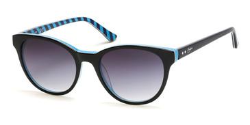 Black/Gradient Smoke Candie's Eyewear CA1024 Sunglasses