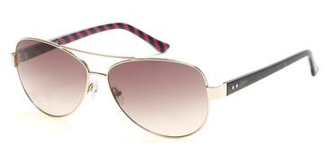 Gold/Gradient Brown Candie's Eyewear CA1025 Sunglasses