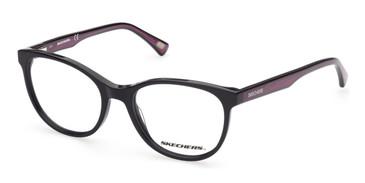 Shiny Black Skechers SE1647 Eyeglasses
