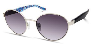 Shiny Light Nickeltin/Gradient Smoke Candie's Eyewear CA1033 Sunglasses