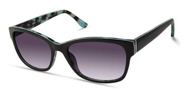 Shiny Black/Gradient Smoke Candie's Eyewear CA1035 Sunglasses