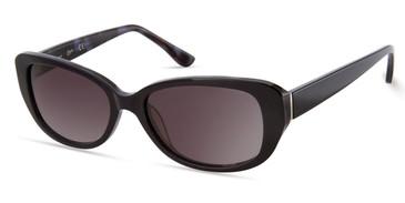 Shiny Blue/Gradient Smoke Candie's Eyewear CA1036 Sunglasses