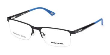 Shiny Black Skechers SE3306 Eyeglasses