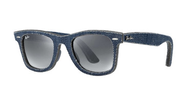 Blue Denim/Blue Grey Gradient Lenses RayBan RB2140 Original Denim - Blue Sunglasses
