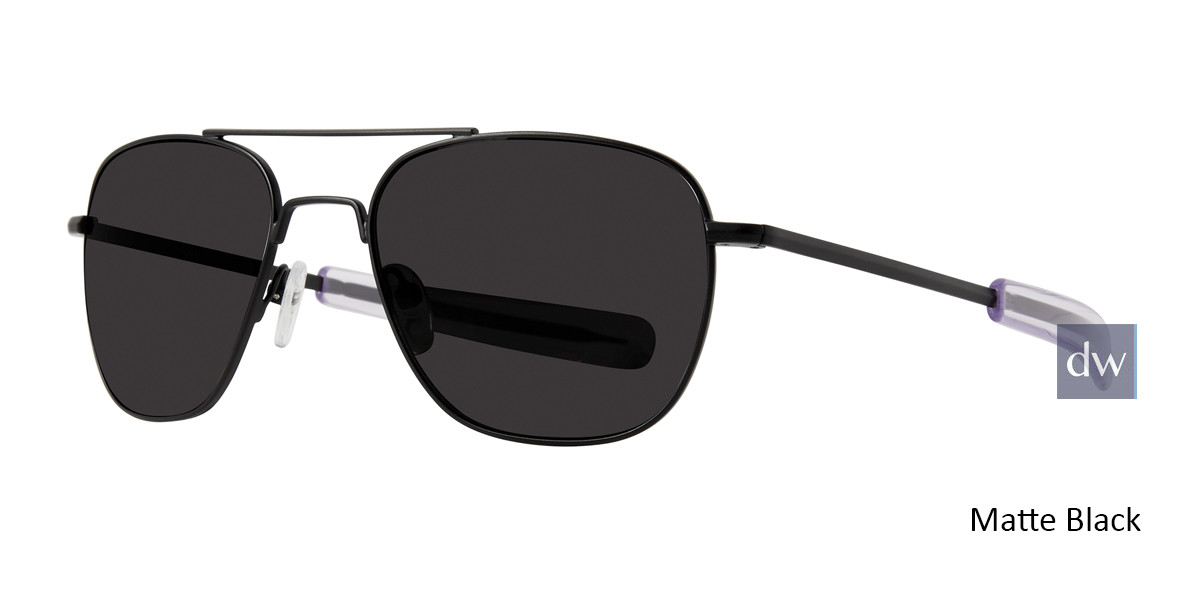Matte Black Lite Design Aviator Sunglasses
