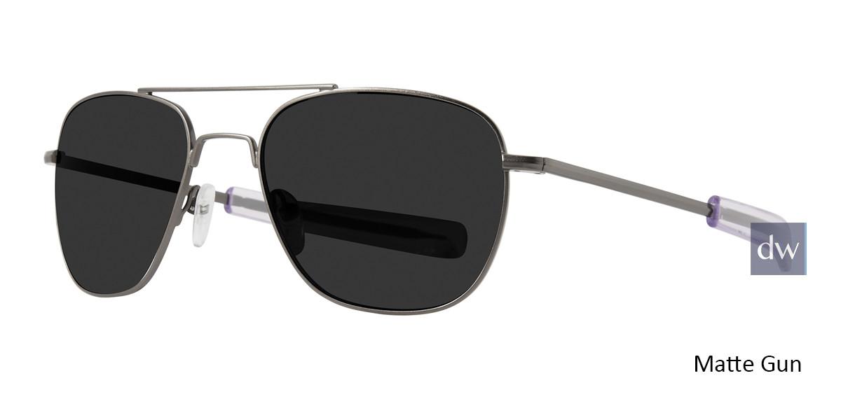 Matte Gun Lite Design Aviator Sunglasses