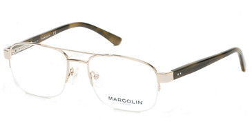 Pale Gold Marcolin Eyewear MA3009 Eyeglasses.