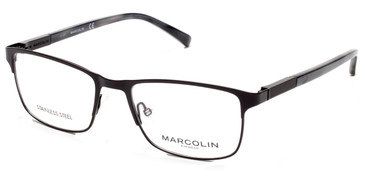Matte Black Marcolin Eyewear MA3013 Eyeglasses.