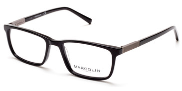 Shiny Black Marcolin Eyewear MA3014 Eyeglasses.