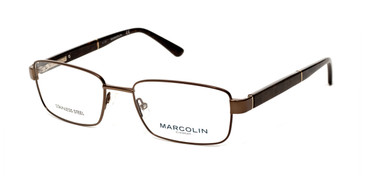 Matte Dark Brown Marcolin Eyewear MA3015 Eyeglasses.