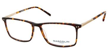Dark Havana Marcolin Eyewear MA3019 Eyeglasses.