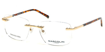 Pale Gold Marcolin Eyewear MA3021 Eyeglasses.