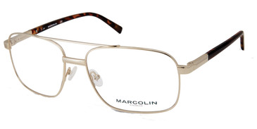Pale Gold Marcolin Eyewear MA3022 Eyeglasses.