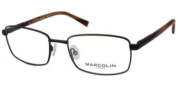 Matte Black Marcolin Eyewear MA3024 Eyeglasses.