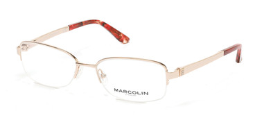 Pale Gold Marcolin Eyewear MA5011 Eyeglasses.