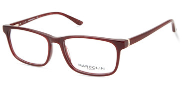Shiny Red Marcolin Eyewear MA5017 Eyeglasses.