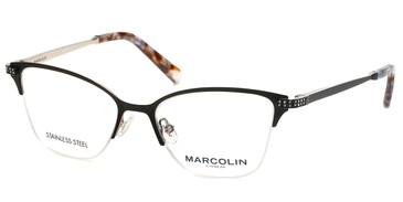 Matte Black Marcolin Eyewear MA5020 Eyeglasses.