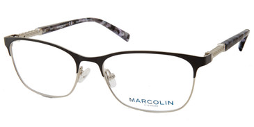Matte Black Marcolin Eyewear MA5022 Eyeglasses.