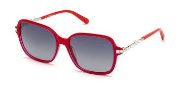 Shiny Red/Gradient Smoke Swarovski SK0265 Sunglasses