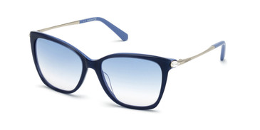 Shiny Blue/Gradient Blue Swarovski SK0267 Sunglasses
