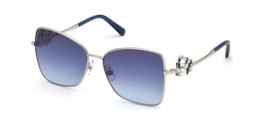 Shiny Palladium/Gradient Blue Swarovski SK0277 Sunglasses